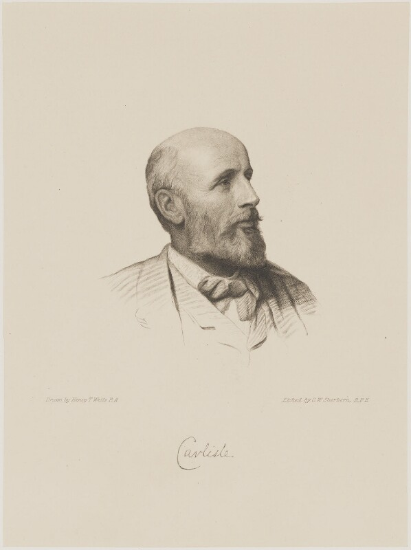 George James Howard, 9th Earl of Carlisle, by Charles William Sherborn, after  Henry Tanworth Wells, 1894 - NPG D18071 - © National Portrait Gallery, London