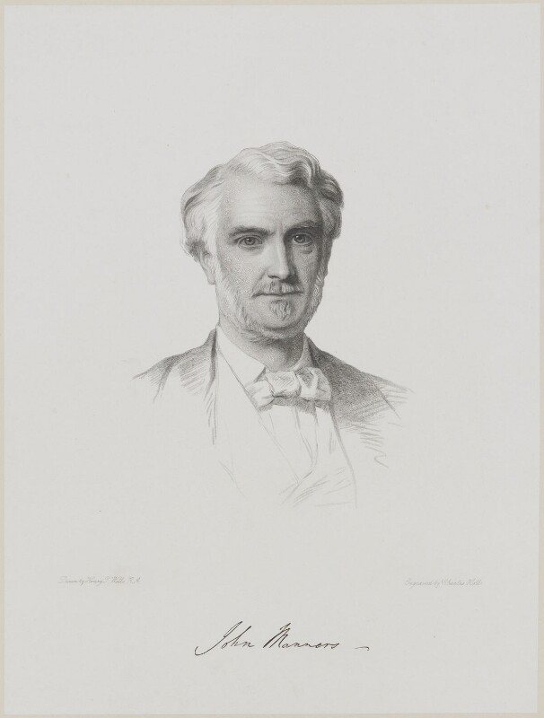 John James Robert Manners, 7th Duke of Rutland, by Charles Holl, after  Henry Tanworth Wells, (1872) - NPG D18075 - © National Portrait Gallery, London