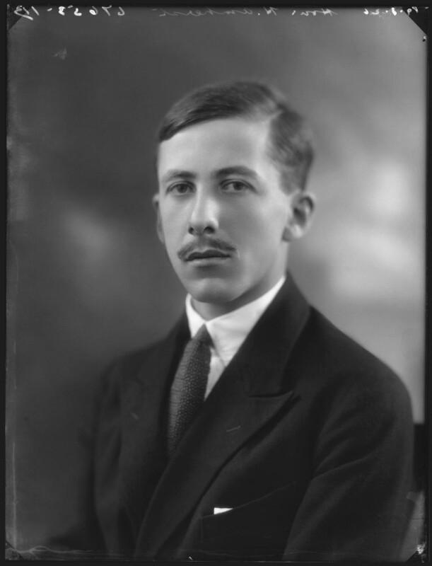 Hon. Humphrey William Amherst, by Bassano Ltd, 19 August 1926 - NPG x36626 - © National Portrait Gallery, London