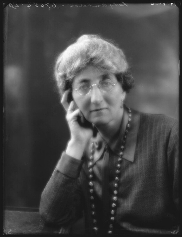 Eleanor Clementina (née St Aubyn), Countess Amherst, by Bassano Ltd, 19 August 1926 - NPG x36628 - © National Portrait Gallery, London