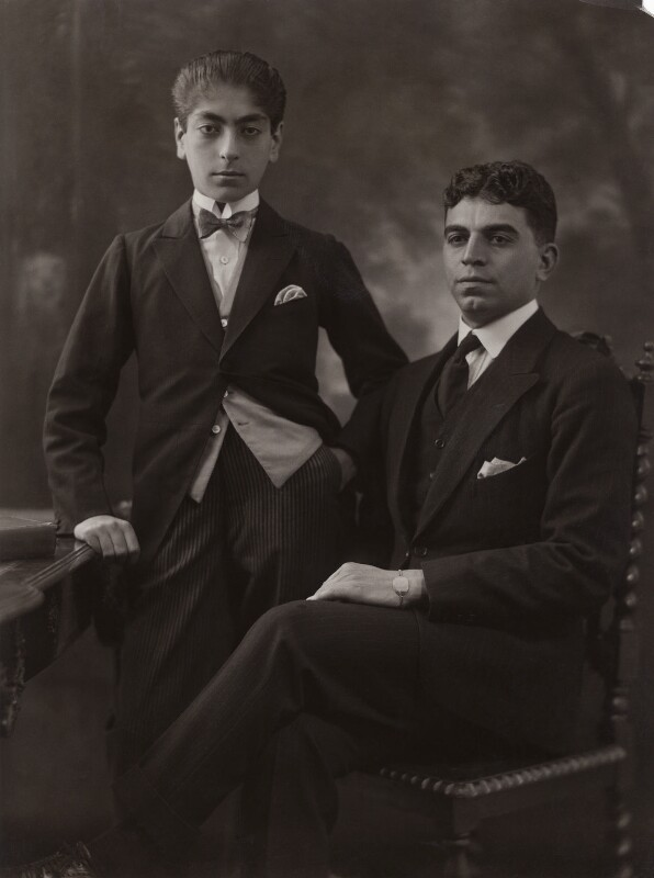 Prince Mozaffar; Prince Sultan Mahmond Mirzaadjar, by Bassano Ltd, 3 August 1922 - NPG x122838 - © National Portrait Gallery, London