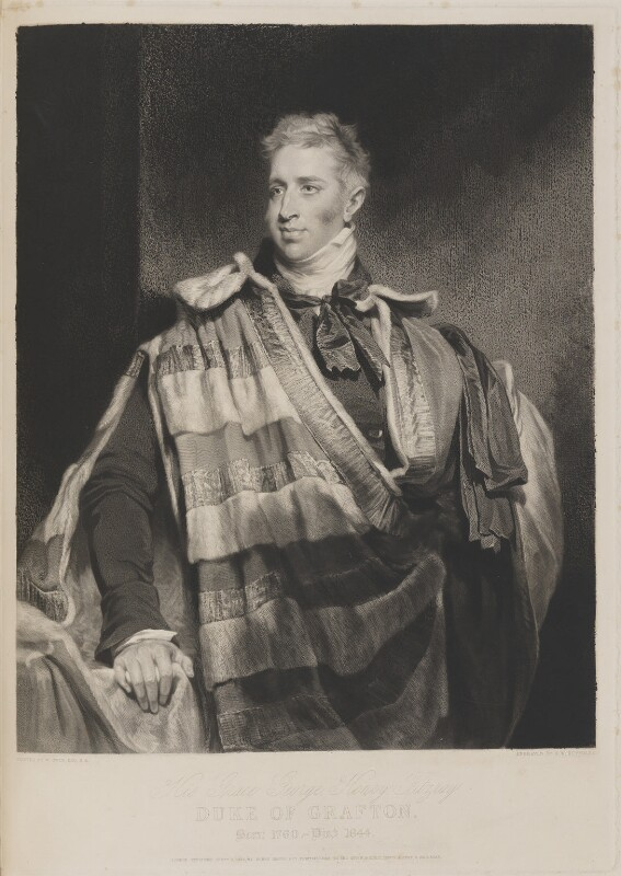 George Henry Fitzroy, 4th Duke of Grafton, by Samuel William Reynolds, published by  Henry Graves, after  William Owen, published 2 September 1844 - NPG D14707 - © National Portrait Gallery, London