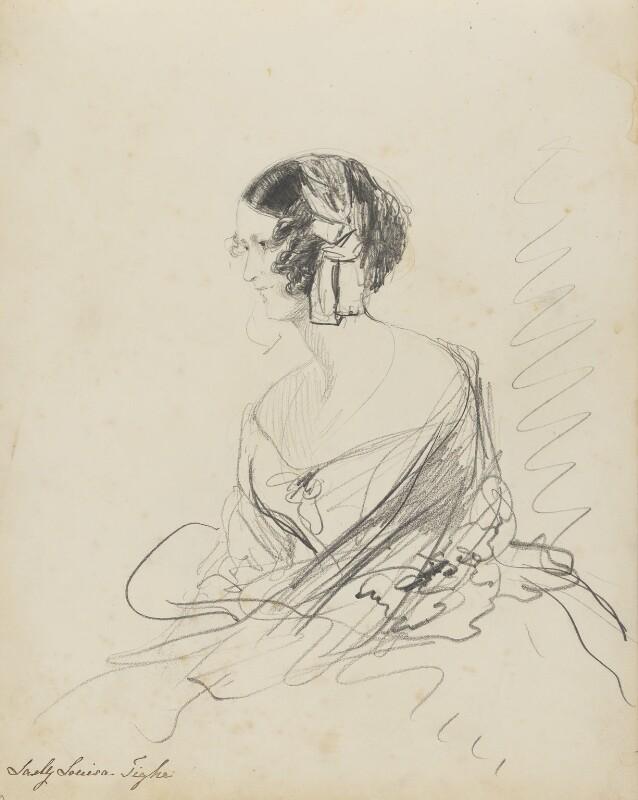 Lady Louisa Maddelena Tighe (née Lennox), by Hon. Henry Richard Graves, 1848 - NPG D18085(5) - © National Portrait Gallery, London