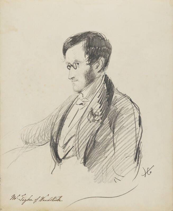 William Frederick Fownes Tighe, by Hon. Henry Richard Graves, 1848 - NPG D18085(6) - © National Portrait Gallery, London