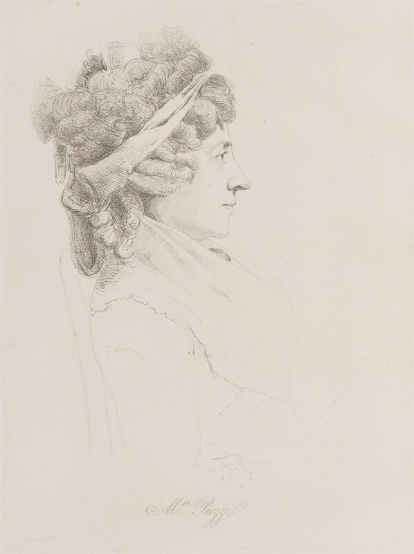 Hester Lynch Piozzi (née Salusbury, later Mrs Thrale), by William Daniell, after  George Dance, (1793) - NPG D14717 - © National Portrait Gallery, London
