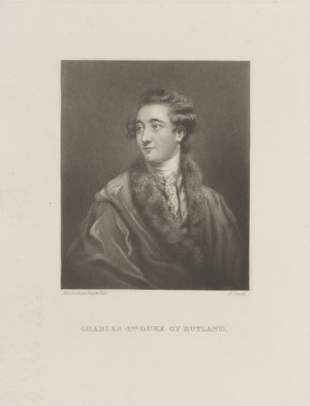 Charles Manners, 4th Duke of Rutland, by James Scott, after  Sir Joshua Reynolds, published 1864 (circa 1775) - NPG D14719 - © National Portrait Gallery, London