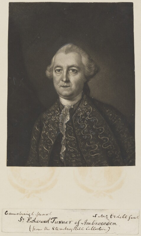 Sir Edward Turner, 2nd Bt, by James Macardell, after  Thomas Gainsborough, 1763 (1762) - NPG D14729 - © National Portrait Gallery, London