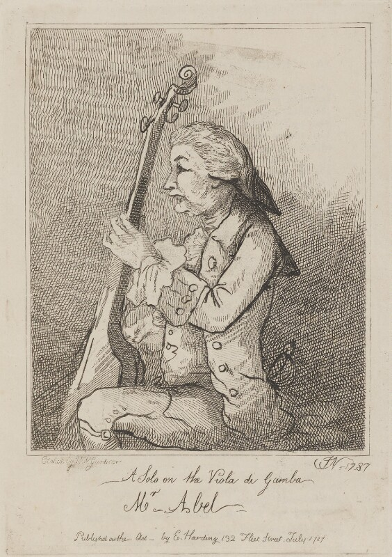 Karl Friedrich Abel, by William Nelson Gardiner, published by  Edward Harding, after  John Nixon, published July 1787 (1787) - NPG D14733 - © National Portrait Gallery, London