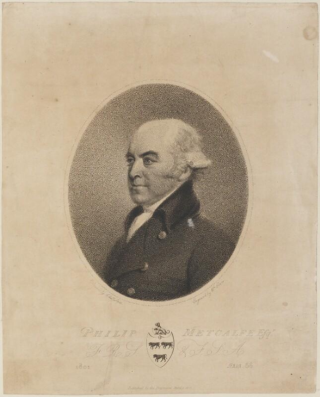 Philip Metcalfe, by William Evans, after  Edmund Scott, published 9 April 1801 - NPG D14762 - © National Portrait Gallery, London