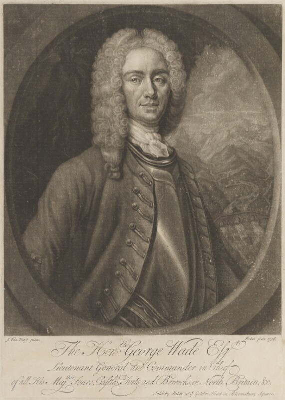 George Wade, by and published by John Faber Jr, after  Johan van Diest, published 1736 (circa 1731) - NPG D14765 - © National Portrait Gallery, London