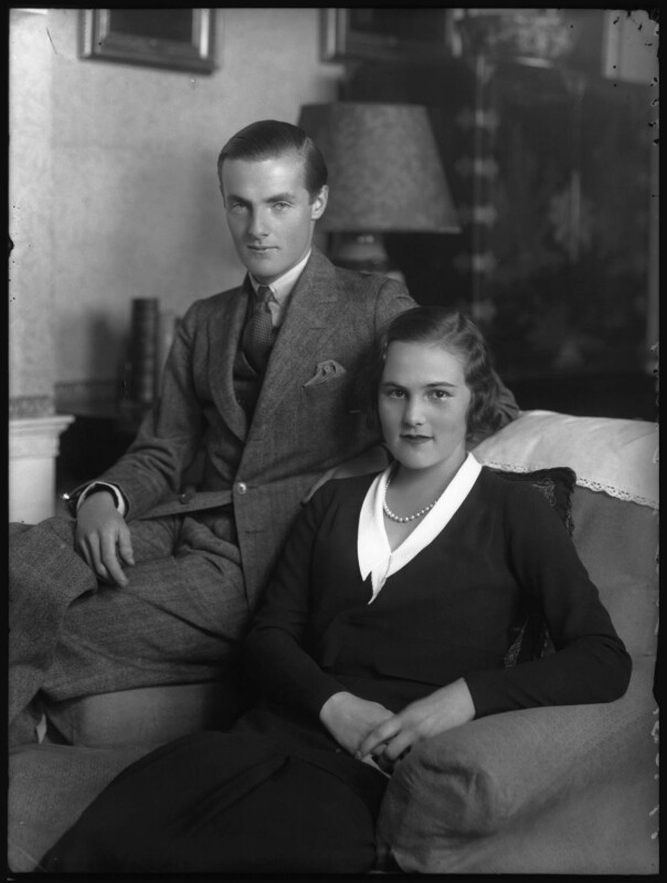 George Francis Child-Villiers, 9th Earl of Jersey; Patricia Kenneth Child-Villiers (née Richards), Countess of Jersey (later Filmer-Wilson, later Laycock), by Bassano Ltd, 19 October 1931 - NPG x34479 - © National Portrait Gallery, London