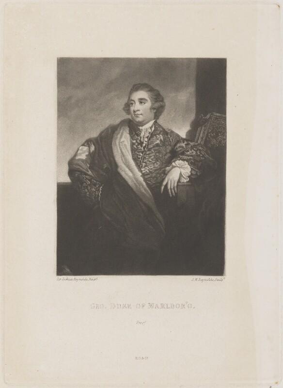 George Spencer, 4th Duke of Marlborough, by Samuel William Reynolds, published by  Henry Graves & Co, after  Sir Joshua Reynolds, published 1823 (1784) - NPG D14845 - © National Portrait Gallery, London