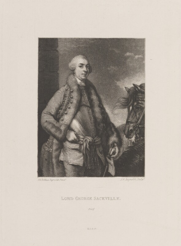 George Sackville Germain, 1st Viscount Sackville, by Samuel William Reynolds, published by  Henry Graves & Co, after  Sir Joshua Reynolds, published circa 1820 (1759) - NPG D14851 - © National Portrait Gallery, London