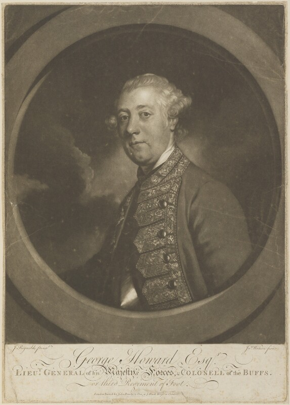 Sir George Howard, by James Watson, published by  John Bowles, after  Sir Joshua Reynolds, (1758-1762) - NPG D14866 - © National Portrait Gallery, London