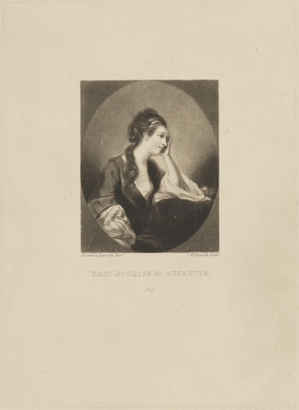 Mary (née Panton), Duchess of Ancaster, by and published by Samuel William Reynolds, after  Sir Joshua Reynolds, published circa 1820 (circa 1757-1759) - NPG D14883 - © National Portrait Gallery, London