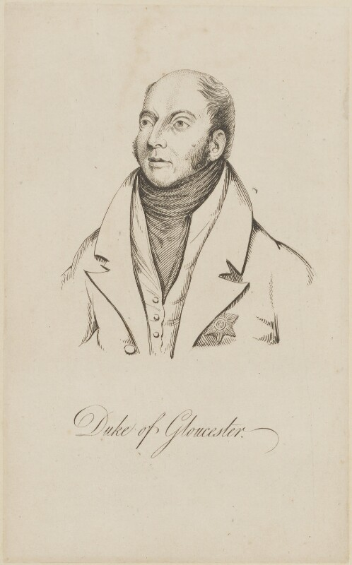 William Frederick, 2nd Duke of Gloucester, after Abraham Wivell, (1821) - NPG D14888 - © National Portrait Gallery, London