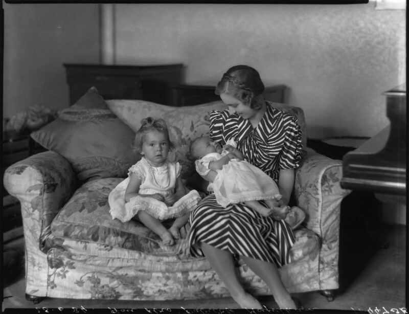 Imogen Anne Ierne Vance (née Moynihan); Ierne Helen (née Candy), Lady Moynihan; Juliet Jane Margaretta Abraham (née Moynihan), by Bassano Ltd, 25 June 1934 - NPG x34489 - © National Portrait Gallery, London