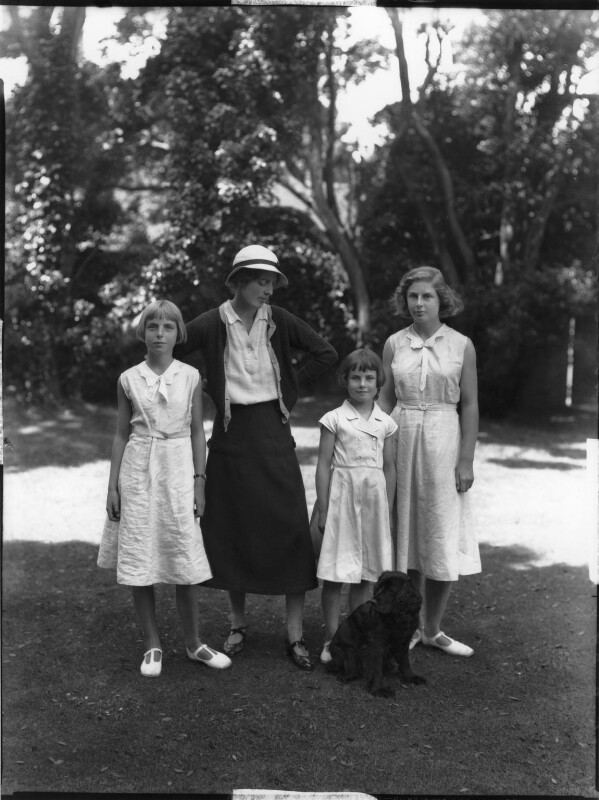 Hon. Betty Constance Asquith (née Manners) and daughters, by Bassano Ltd, 26 June 1934 - NPG x34677 - © National Portrait Gallery, London