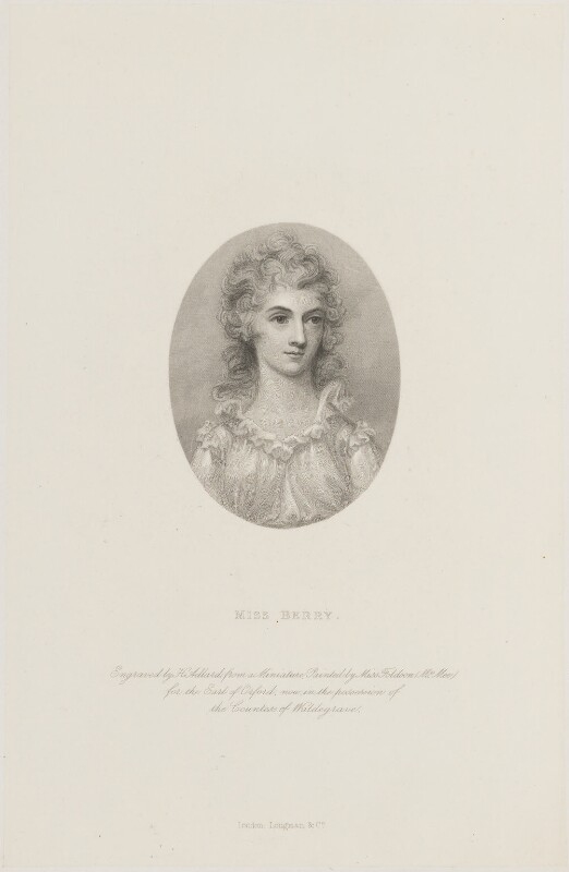 Mary Berry, by Henry Adlard, published by  Longman & Co, after  Anne Mee (née Foldsone), (1790) - NPG D14938 - © National Portrait Gallery, London
