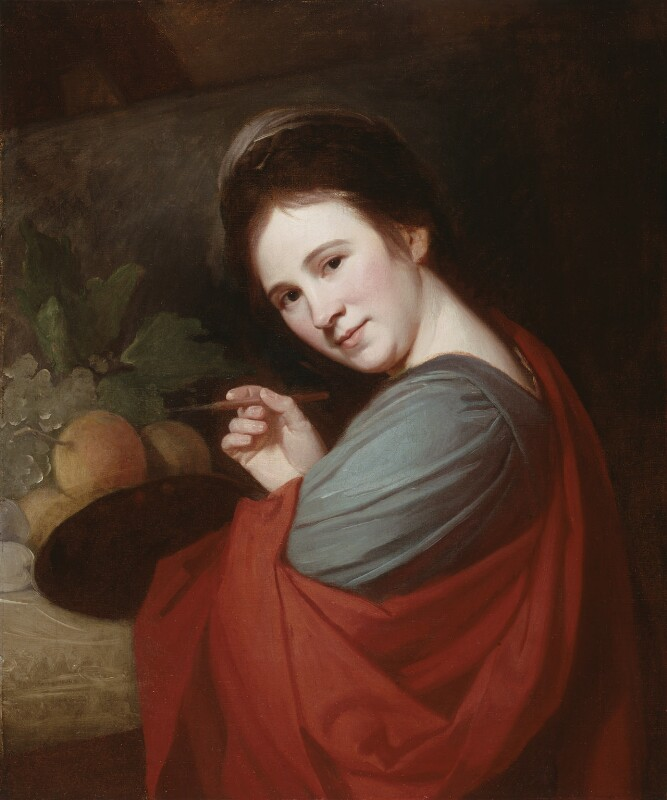 Mary Moser, by George Romney, circa 1770-1771 - NPG 6641 - © National Portrait Gallery, London