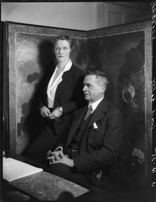 Nancy Astor, Viscountess Astor; Waldorf Astor, 2nd Viscount Astor, by Bassano Ltd, 3 December 1935 - NPG x31173 - © National Portrait Gallery, London