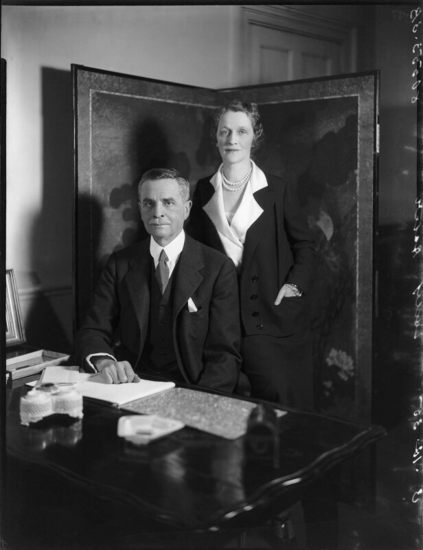 Waldorf Astor, 2nd Viscount Astor; Nancy Astor, Viscountess Astor, by Bassano Ltd, 3 December 1935 - NPG x31174 - © National Portrait Gallery, London