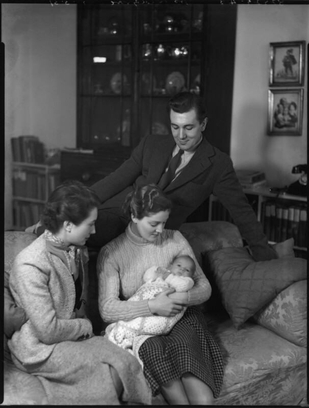 Rachel Kempson, Lady Redgrave; Vanessa Redgrave; Sir Michael Redgrave, by Bassano Ltd, 5 March 1937 - NPG x81309 - © National Portrait Gallery, London