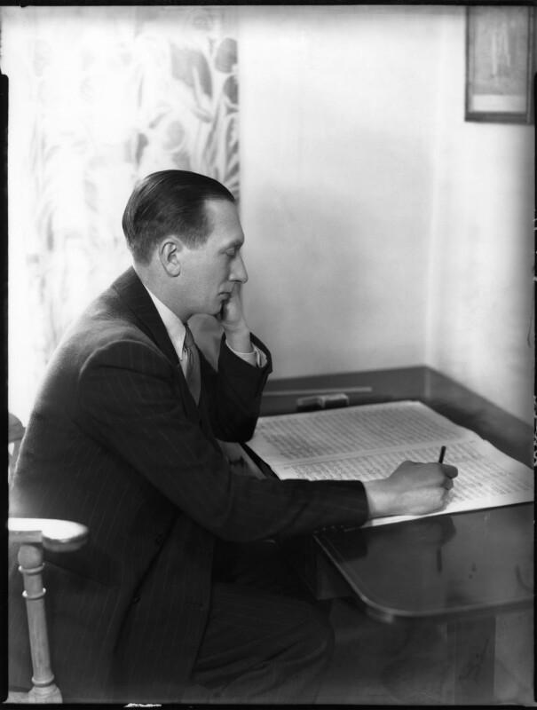Sir William Turner Walton, by Bassano Ltd, 3 April 1937 - NPG x81197 - © National Portrait Gallery, London