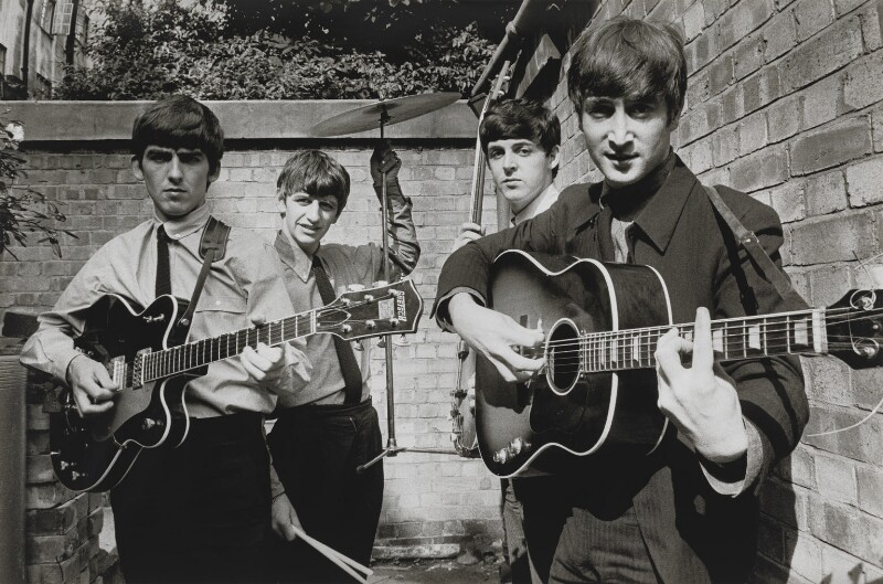 The Beatles (George Harrison; Ringo Starr; Paul McCartney; John Lennon), by Terry O'Neill, 1963 - NPG x126131 - © Iconic IMages/Terry O'Neill