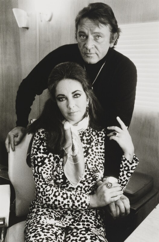 Richard Burton; Dame Elizabeth Taylor, by Terry O'Neill, 1971 - NPG x126133 - © Iconic IMages/Terry O'Neill