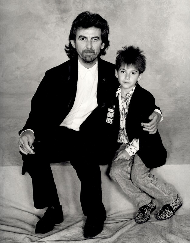 George Harrison; Dhani Harrison, by Terry O'Neill, 1987 - NPG x126134 - © Iconic IMages/Terry O'Neill
