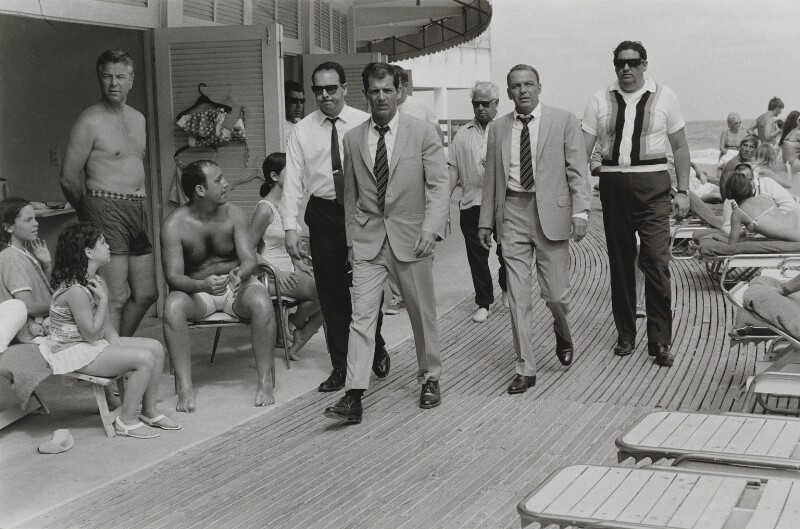 Frank Sinatra with his stand-in and four escorts, by Terry O'Neill, 1968 - NPG x126145 - © Iconic IMages/Terry O'Neill