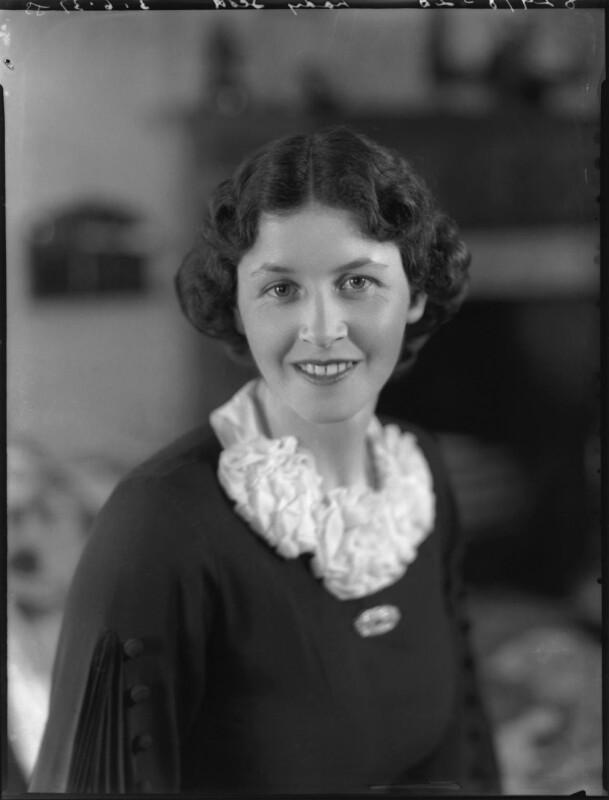 Elizabeth Joyce (née Glanley), Lady Scott, by Bassano Ltd, 3 June 1937 - NPG x37215 - © National Portrait Gallery, London