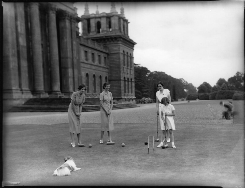 Lady Caroline Waterhouse; Lady Sarah Roubanis; Alexandra Cadogan, Duchess of Marlborough; Lady Rosemary Muir, by Bassano Ltd, 10 March 1937 - NPG x81369 - © National Portrait Gallery, London