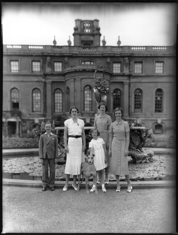 John Spencer-Churchill, 11th Duke of Marlborough; Alexandra Cadogan, Duchess of Marlborough; Lady Rosemary Muir; Lady Caroline Waterhouse; Lady Sarah Roubanis, by Bassano Ltd, 10 March 1937 - NPG x81370 - © National Portrait Gallery, London