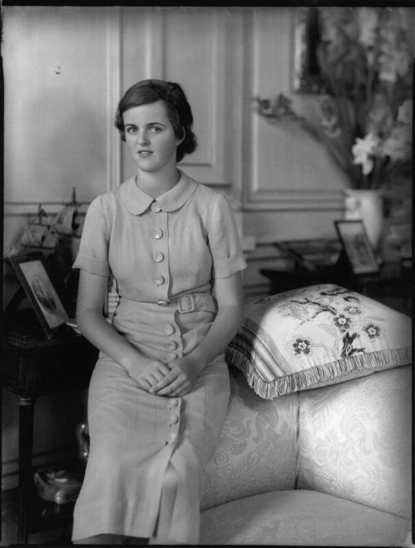 Lady Sarah Consuelo Roubanis (née Spencer-Churchill), by Bassano Ltd, 10 August 1937 - NPG x80986 - © National Portrait Gallery, London