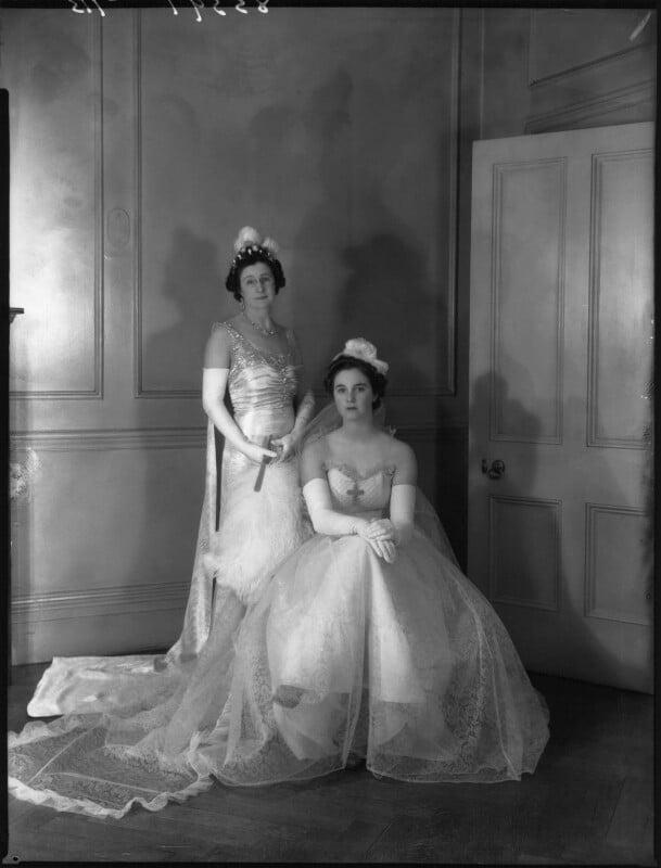 Emily Gladys Walpole (née Oakes), Countess of Orford; Lady Anne Sophia Berry (née Walpole), by Bassano Ltd, 15 March 1939 - NPG x34270 - © National Portrait Gallery, London