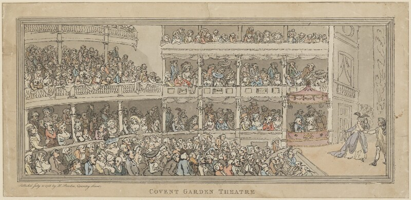 'Covent Garden Theatre', by Thomas Rowlandson, published by  Henry Brookes, published 20 July 1786 - NPG D14984 - © National Portrait Gallery, London