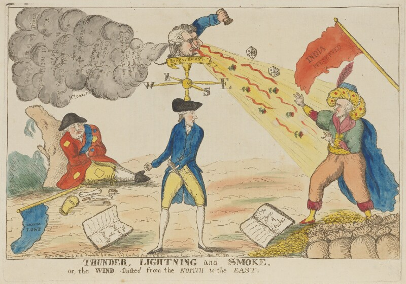 'Thunder, lightning and smoke', published by William Moore, and published by  W. Dickie, published 22 April 1783 - NPG D15004 - © National Portrait Gallery, London