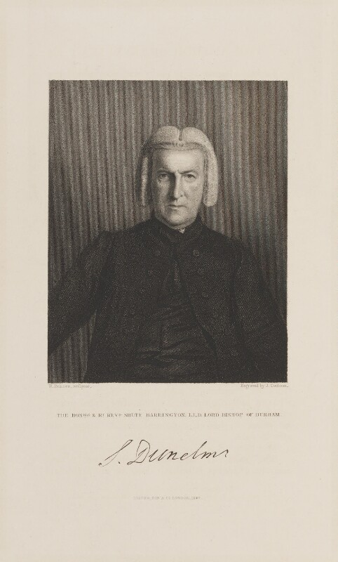 Shute Barrington, by John Cochran, published by  Fisher Son & Co, after  William Behnes, published 1847 - NPG D15016 - © National Portrait Gallery, London
