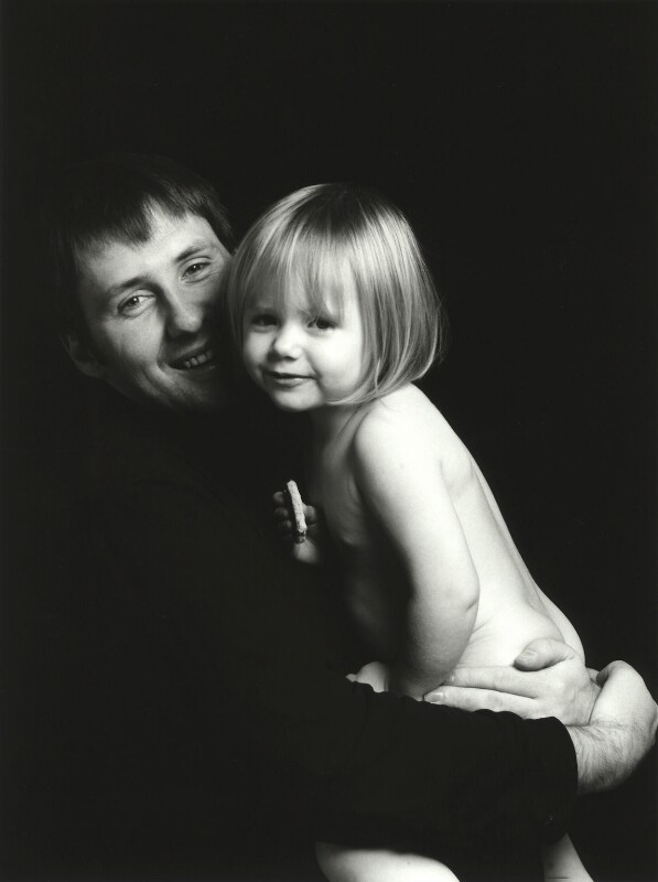 Trevor Leighton with his daughter Rosie, by Trevor Leighton, 1990s - NPG x126170 - © Trevor Leighton / National Portrait Gallery, London