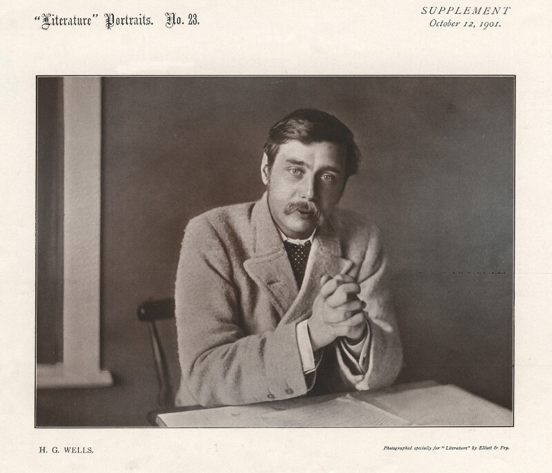H.G. Wells, by Elliott & Fry, 1901 - NPG x45778 - © National Portrait Gallery, London