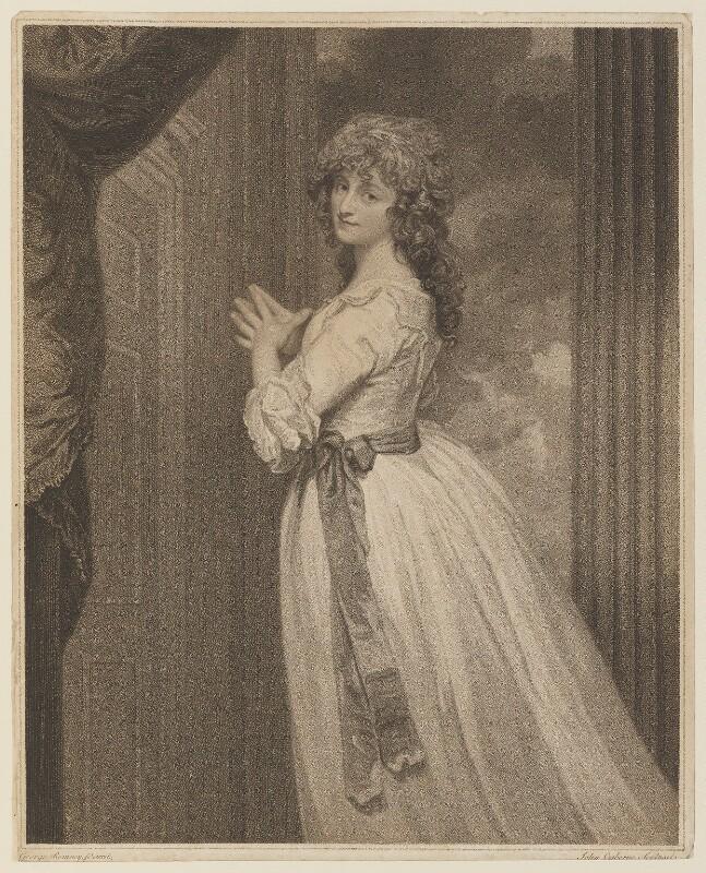 Dorothy Jordan, by John Ogborne, published by  John Boydell, and published by  Josiah Boydell, after  George Romney, published 24 June 1788 - NPG D15037 - © National Portrait Gallery, London