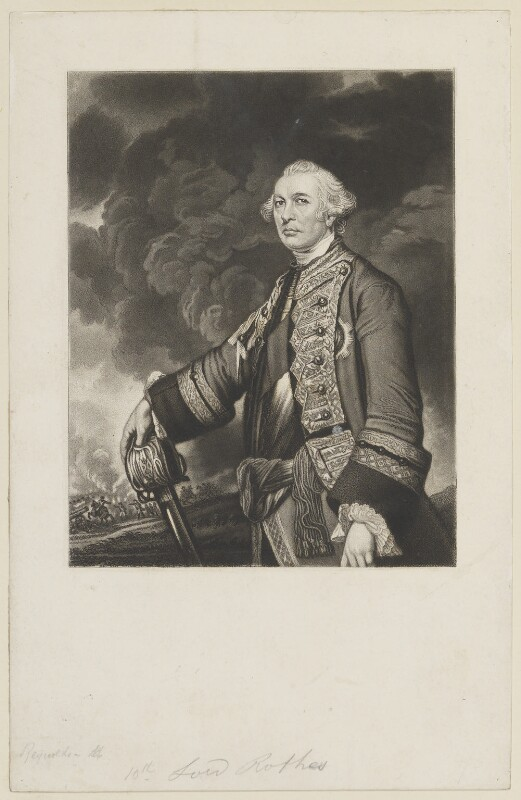 John Leslie, 10th Earl of Rothes, after Sir Joshua Reynolds, (1763) - NPG D15040 - © National Portrait Gallery, London