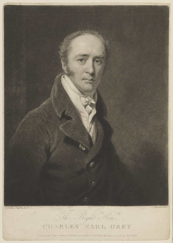 Charles Grey, 2nd Earl Grey, by Charles Turner, published by  Anthony Molteno, after  Thomas Phillips, published 28 May 1811 - NPG D15056 - © National Portrait Gallery, London