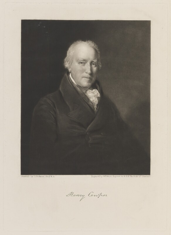 Henry Cowper, by William James Ward, after  John Jackson, circa 1800-1825 - NPG D15062 - © National Portrait Gallery, London