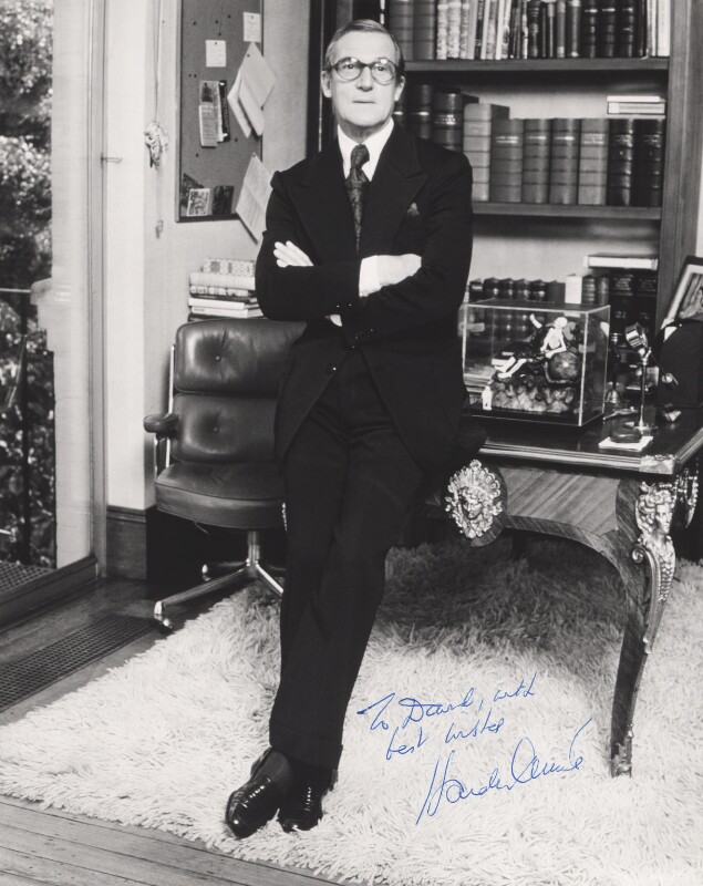 Sir Hardy Amies, by Unknown photographer, circa 1970 - NPG x315 - © reserved; collection National Portrait Gallery, London