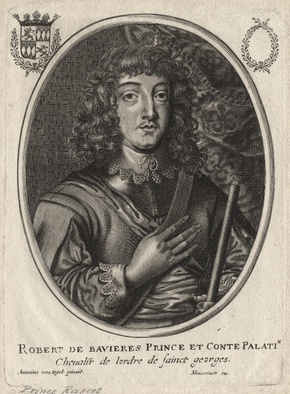 Prince Rupert, Count Palatine, published by Balthasar Moncornet, after  Sir Anthony van Dyck, mid 17th century - NPG D18154 - © National Portrait Gallery, London