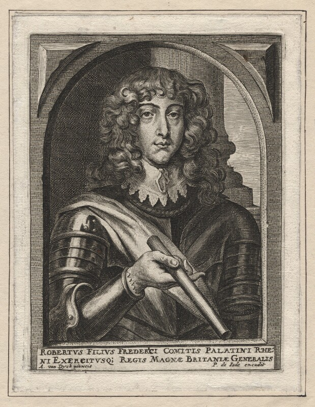 Prince Rupert, Count Palatine, published by Pieter de Jode II, after  Sir Anthony van Dyck, mid 17th century - NPG D18156 - © National Portrait Gallery, London