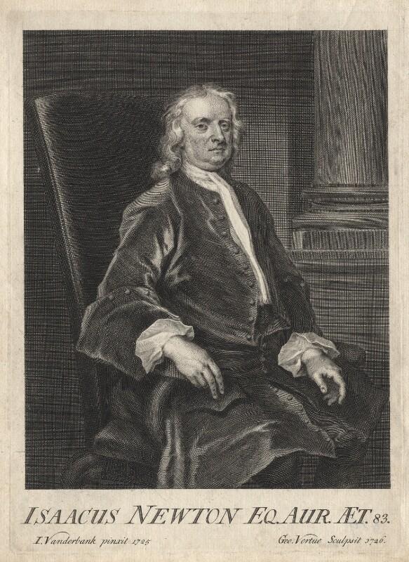 Sir Isaac Newton, by George Vertue, after  John Vanderbank, 1726 (1725) - NPG D18163 - © National Portrait Gallery, London